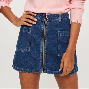 🌼2/$45🌼 Topshop | Zip-Up Denim Skirt 💙